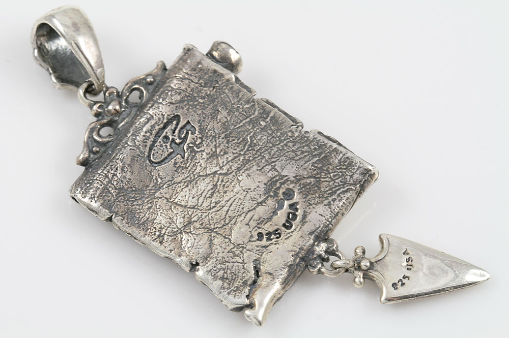 Amore Old Latin Two Tone Bronze & Sterling Silver Pendant PT-086