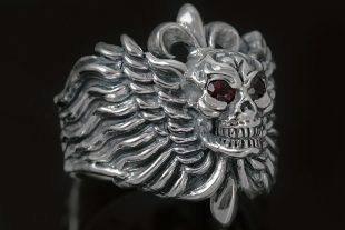Anima Skull Sterling Silver Ring MR-019