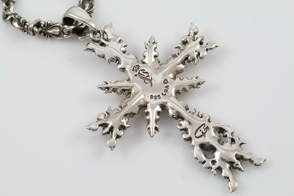 Apostolic Snowflake Silver Cross Pendant PN-022