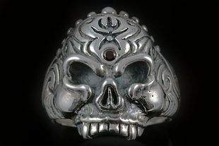 Aztec Skull Sterling Silver Ring MR-015