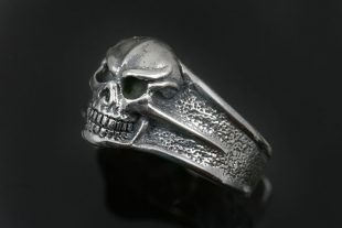 Barello Skull Oxidized Sterling Silver Everyday Wear Ring MR-125
