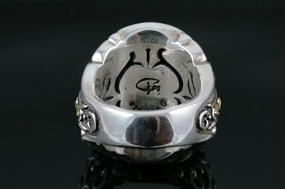 Baron Blue Sapphire Silver Ring MR-030B