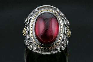 Baron Red Ruby Silver Ring MR-030R