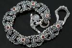 Baroque Red Garnet Sterling Silver Bracelet LBR-019