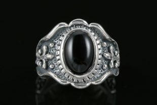 Duke Sterling Silver Ring With Black Onyx MR-063