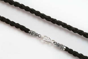 5mm Black Velvet Rope Choker with Sterling Silver Lock Clasp CHN-N10