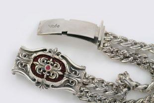 Brufendorf Gothic Historic Symbolic Luxurious Silver Bracelet BR-051