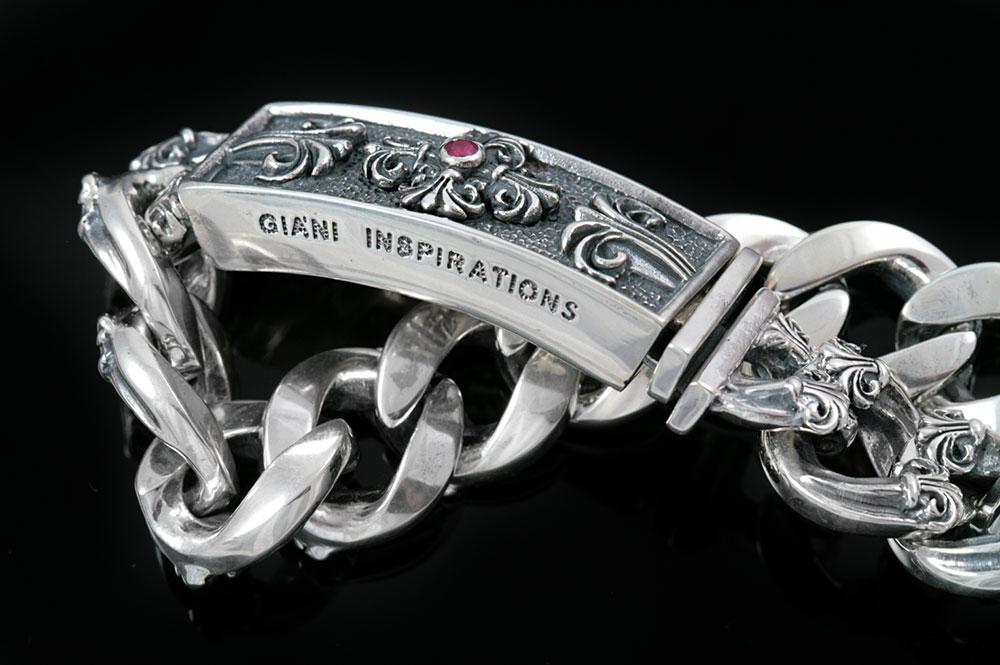 Cardinal Silver Cross Chain Link Bracelet BR-005