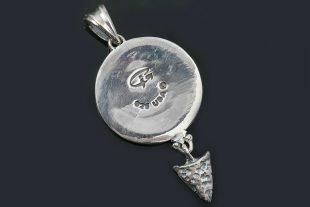 Cherokee Native American Oxidized Silver & Bronze Pendant PT-073