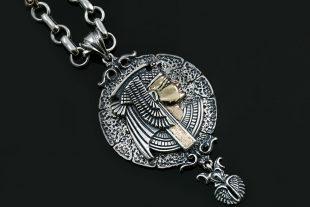 cleopatra-egyptian-two-tone-silver-bronze-medallion-pendant-pt-158-
