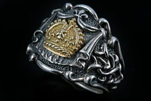 Gold Coronet Of Wales Silver Ring MR-034