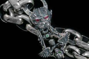 Dahil Lion & Angel Chain Link Silver Bracelet BR-009