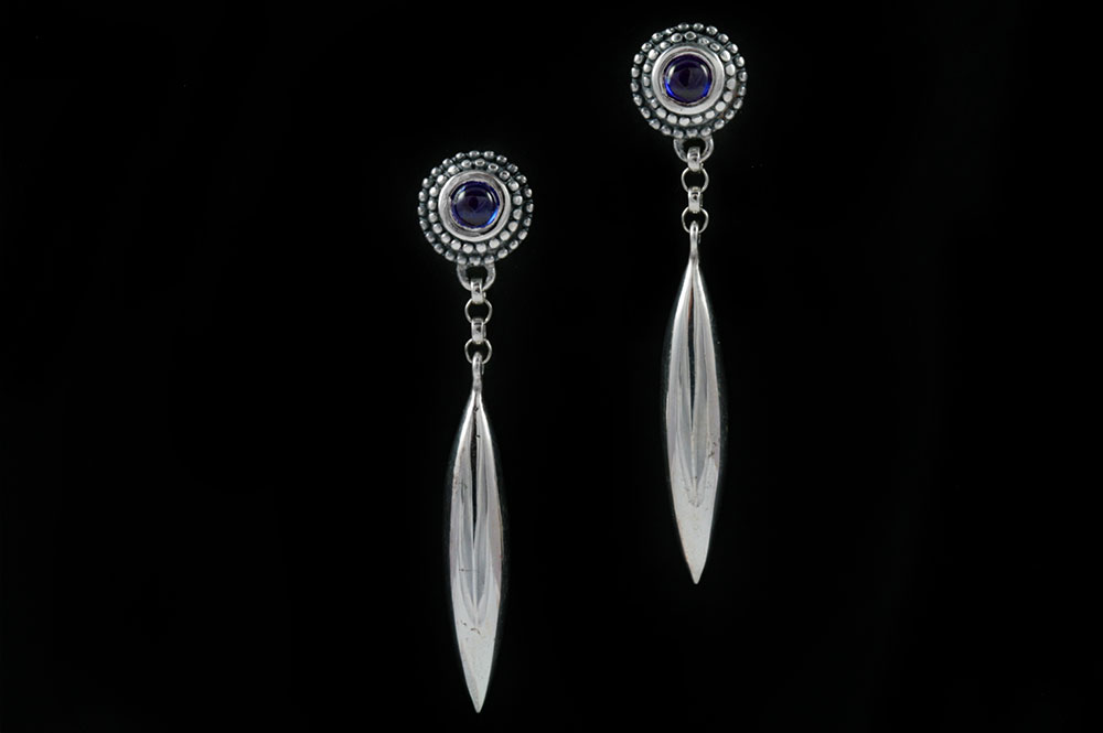 Eclipse Gothic Spike Drop Earrings with Links ER-005