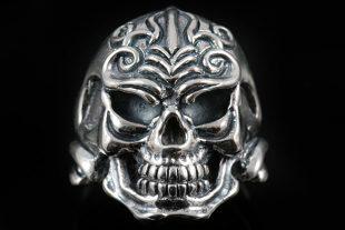 Emerlan Skull Silver Ring MR-009