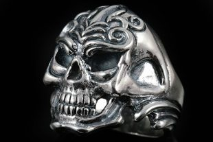 Emerlan Skull Silver Ring MR-009