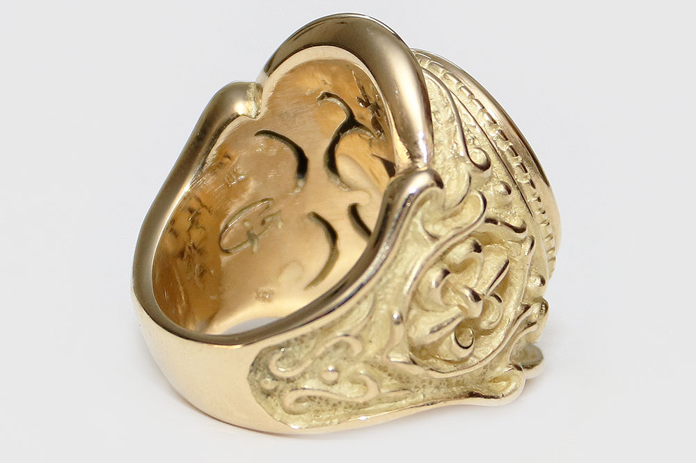 F.D.L. Battle Historic 18K Gold Ring MR-049G