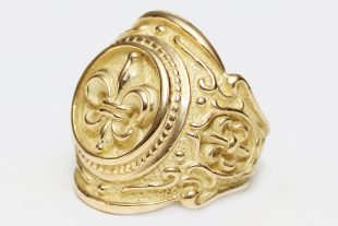 F.D.L. Battle Historic 18K Gold Ring MR-049G