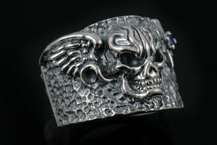 Freedom Skull Sterling Silver Ring UR-022