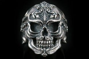 French Skull Silver Ring MR-005