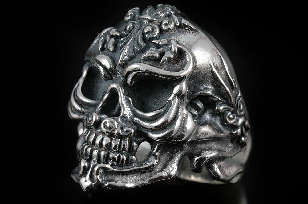 French Skull Silver Ring MR-005