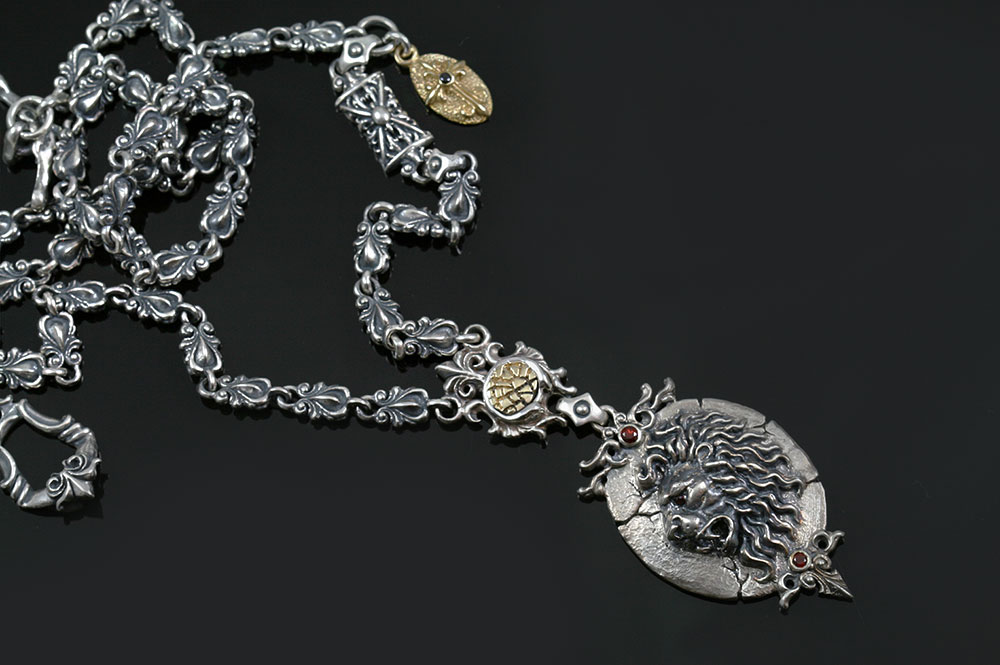 Giani Lion Sterling Silver Necklace N-024
