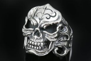 Gorilla Skull Gothic Adventure Style Oxidized Silver Ring MR-011