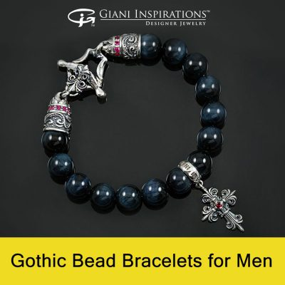 Gothic Bead Bracelets for Men