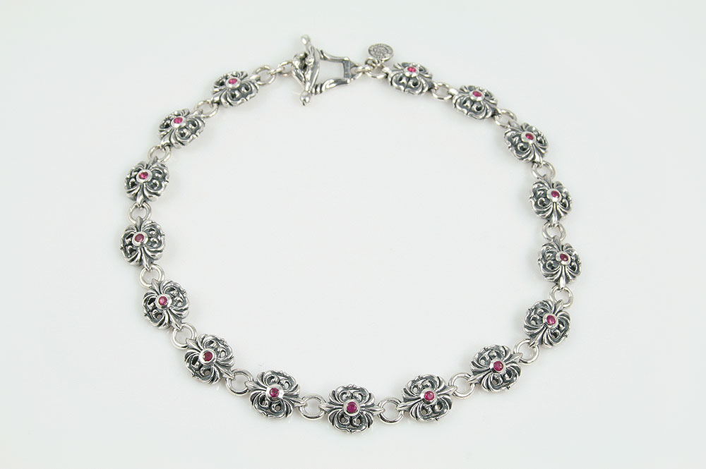 Gothic Ruby Sterling Silver Luxurious Necklace NK-124