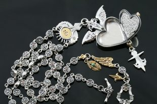 Guardian Angel Locket Heart Silver Necklace NK-136