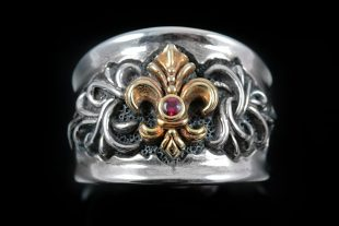 Honorius 18K Gold or Bronze French Royalty Sterling Silver Ring MR-041