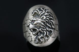 Iconic Giani Lion Head Silver Ring MR-123