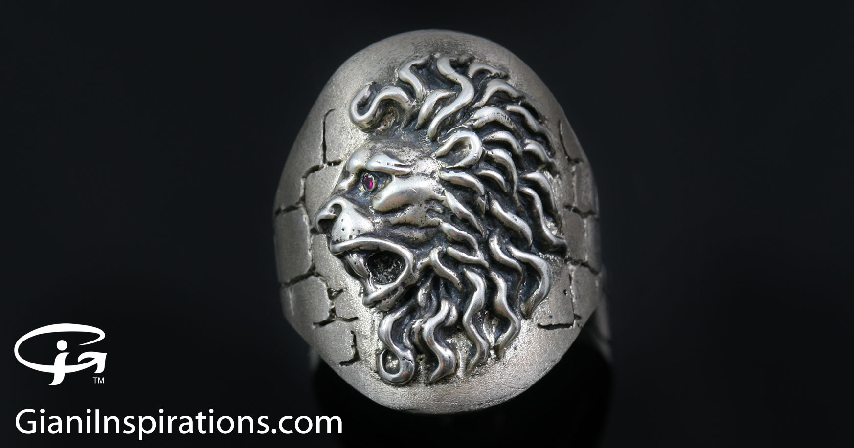 great the rings lion product angled frog ring head