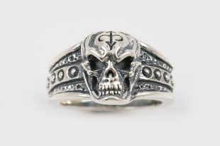 Iron Skull Sterling Silver Ring UR-021