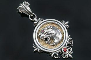 Leonidas Spartan Symbol Fascinating Silver Pendant PT-142P