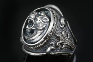 Leonidas Spartan Symbol Fascinating Silver Ring MR-126S