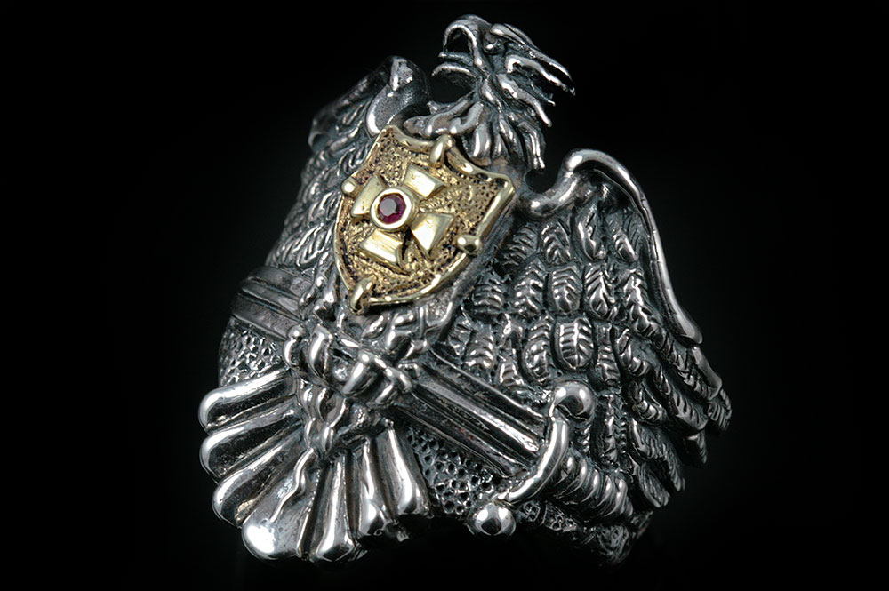 Livonian Brothers of the Sword Silver Ring MR-038