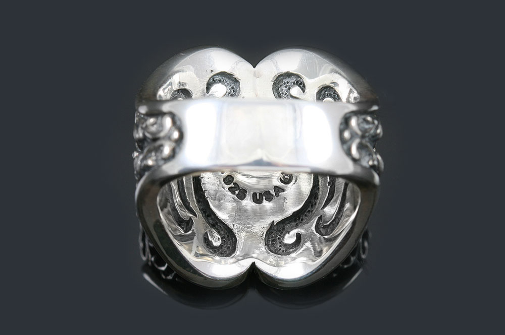 Ludovic Baroque Style Silver Ring MR-024S