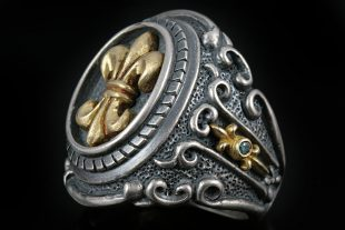 Luise Baroque Style Silver Ring MR-023F