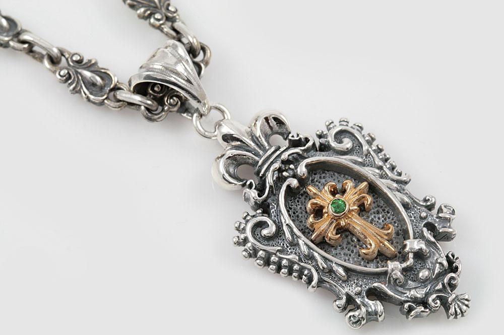 Madena gothic cross two tone silver pendant pt 016 aloadofball Images