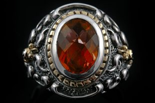 Marquis Garnet Silver Ring MR-033G