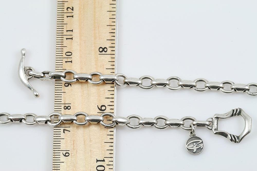 Navy Sterling Silver Unisex Chain CHN-N06