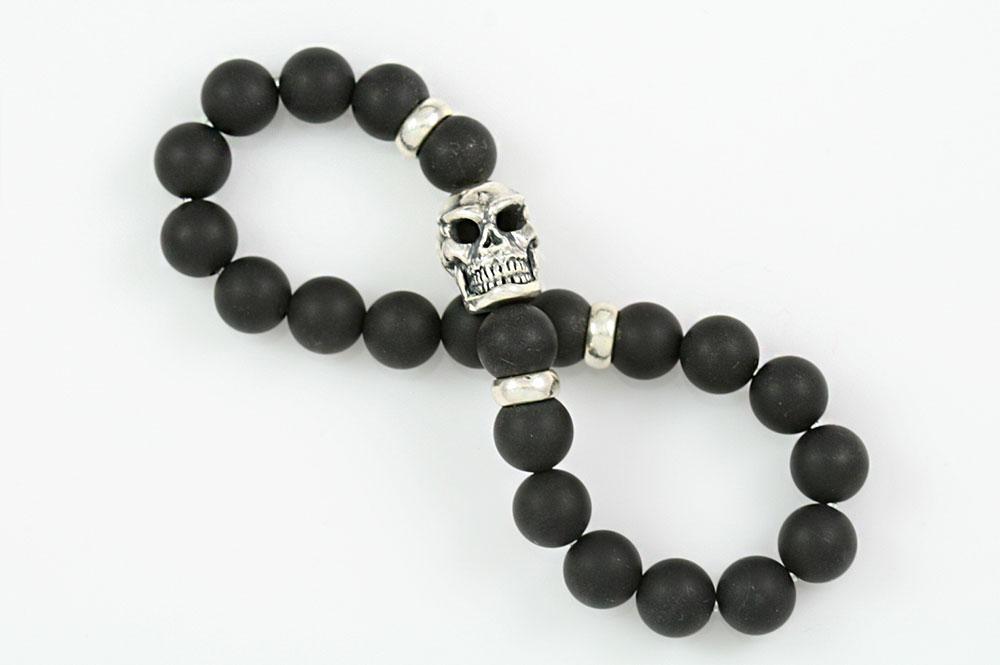Matte Black Onyx Beaded Bracelet Bb 054