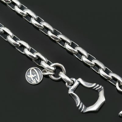 Sterling Silver Chain With Oval Links CHN-N6