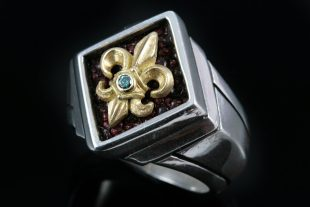 Pius Gold Sterling Silver Ring MR-026G