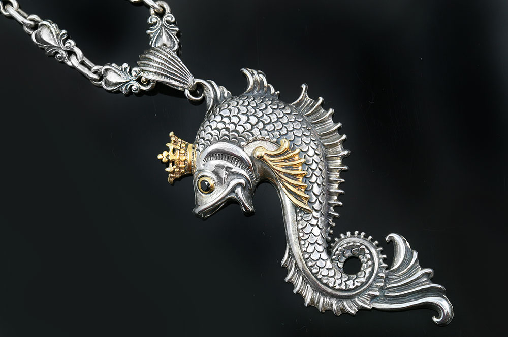 Queen koi fish 2 tone bronze silver pendant pt 074 aloadofball Image collections