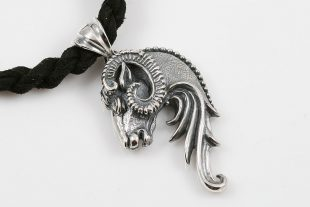 Ram Head Sterling Silver Pendant PT-099