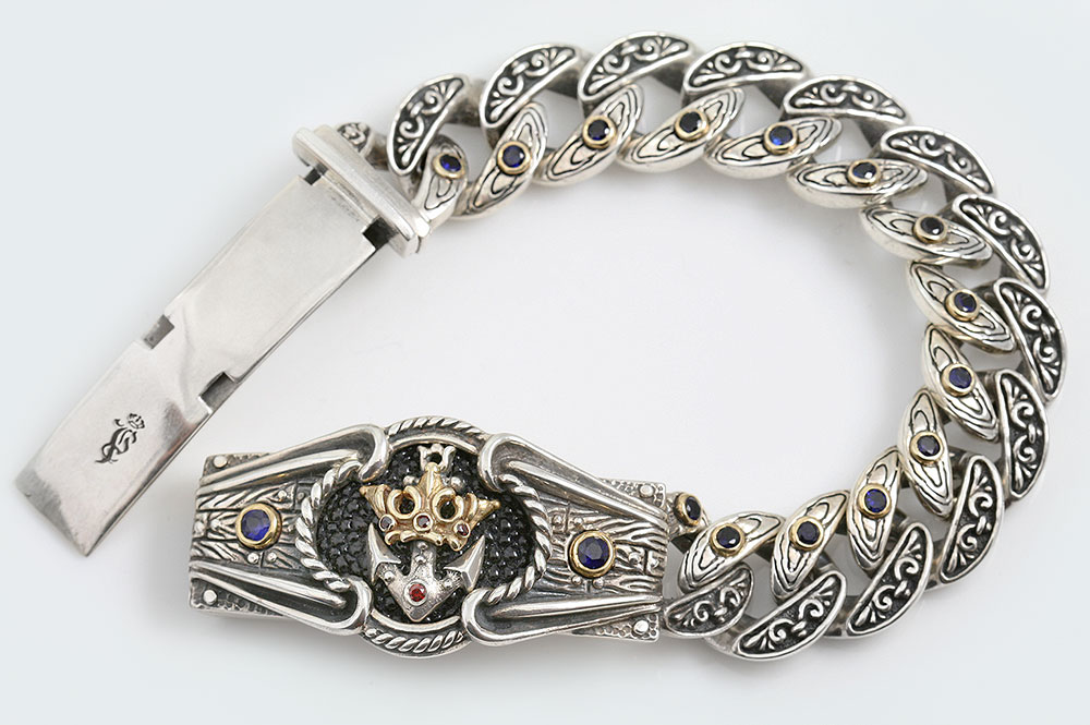Royal Navy Historic Symbolic Luxurious Gold & Silver Bracelet BR-048