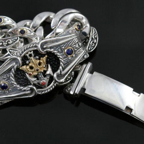 Royal Navy Historic Symbolic Luxurious Gold & Silver Bracelet BR-048