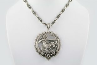 Sagittarius Zodiac Greek Mythological Baroque Silver Pendant PT-014