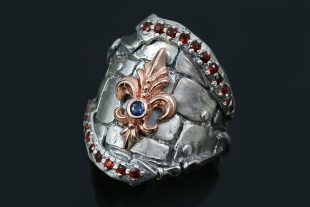 Schaloen F.D.L. High End Oxidized Silver & Rose Gold 2 Tone Ring UR-122
